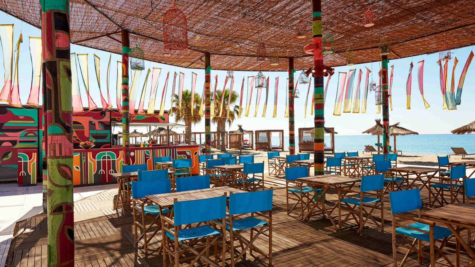 Restaurant du Beach Club au la plage