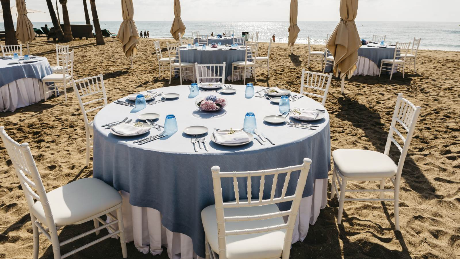 Beach wedding reception in Spain Le Méridien Ra