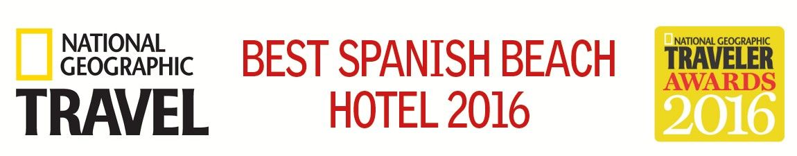 Awarded best Spanish Beach Hotel by National Geographic Russia